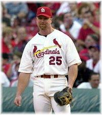 Mark at Busch Stadium 2000